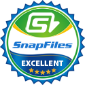 Rated 5 stars at snapfiles.com
